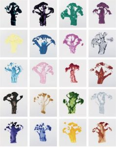 Broccoli prints - work nr. 1000 Martin Creed